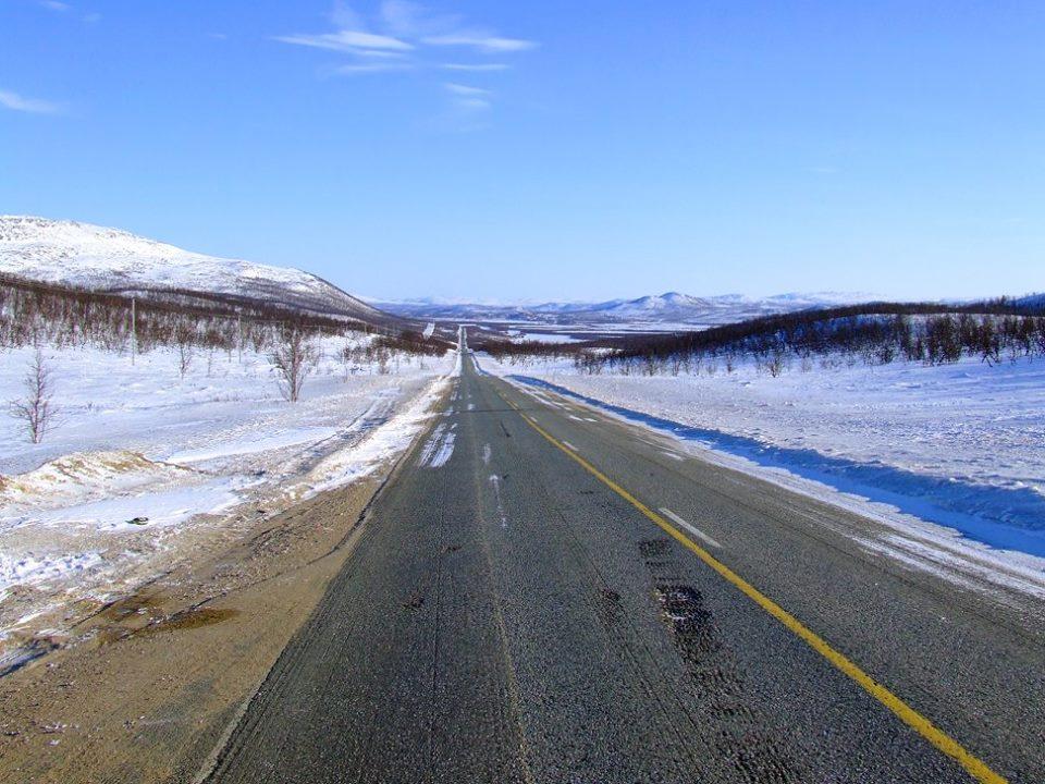 Il magnifico deserto di ghiaccio della Lapponia.
