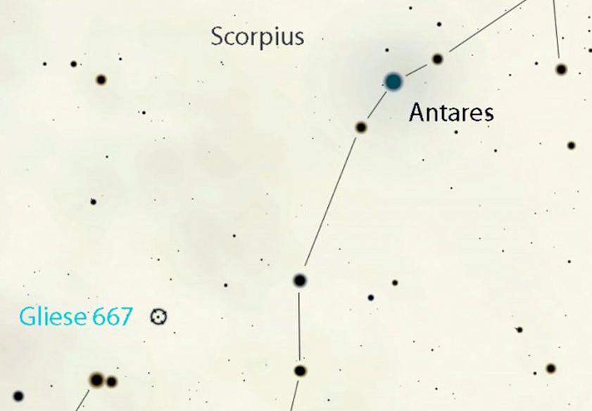 Gliese 667 è una stella che fa parte di un sistema triplo e ospita uno dei pianeti più simili alla Terra che conosciamo.
