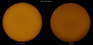 Sole in H-alpha, ovvero: single-stack VS double-stack, un confronto diretto.